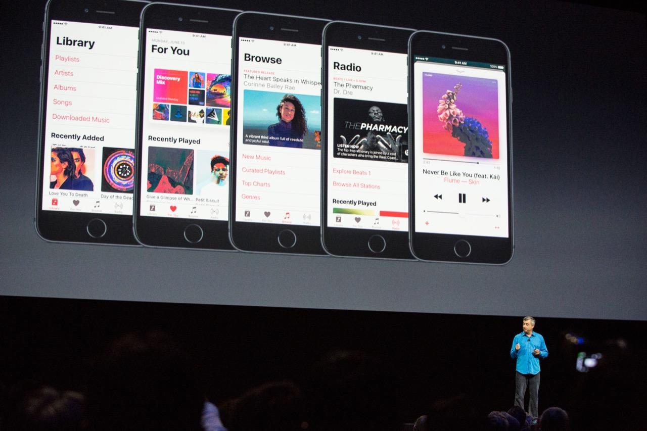 Apple Music en keynote