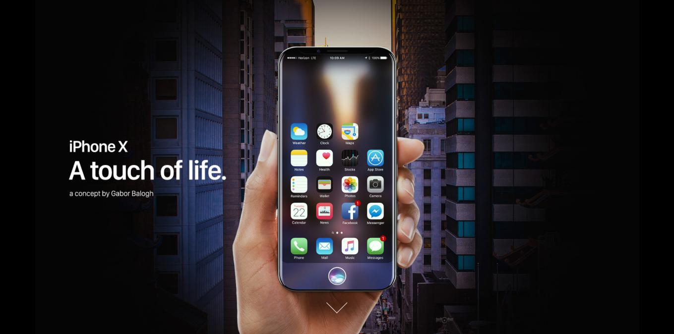 Concepto iPhone 8 realidad aumentada
