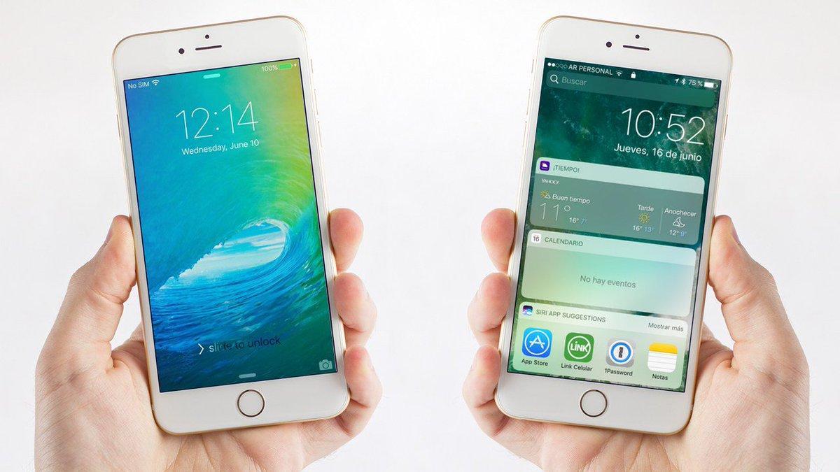 iPhone con iOS