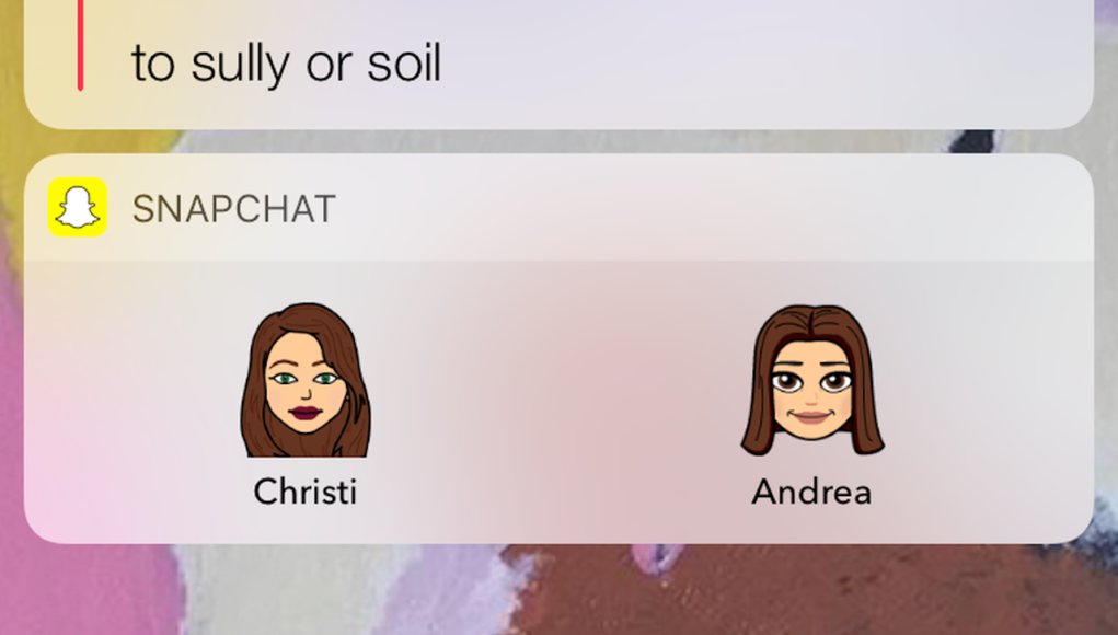 Snapchat widget Bitmoji