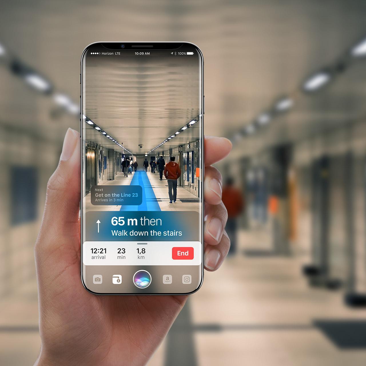 Realidad aumentada concepto iPhone 8