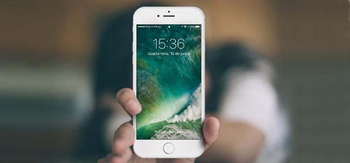 iPhone 6s con iOS 10 wallpaper