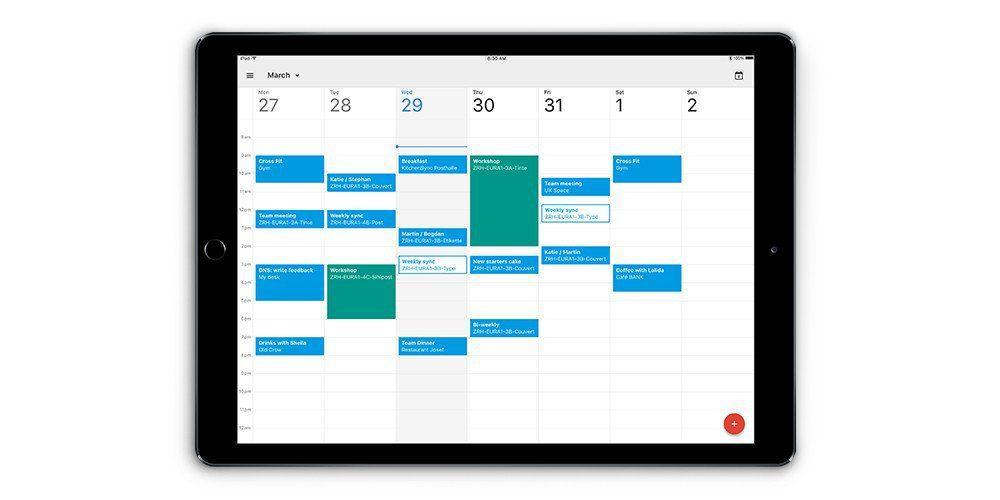 iPad con Google Calendar