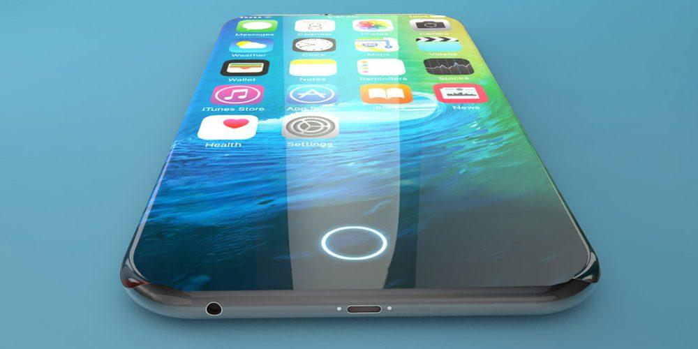 concepto botón Home iPhone 8