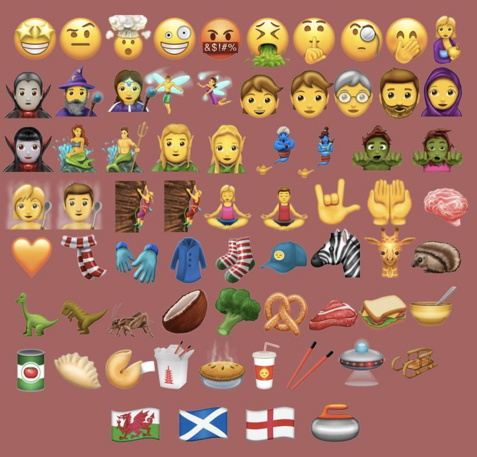 Estos son los 69 nuevos emojis que Unicode 10 traerá a iOS