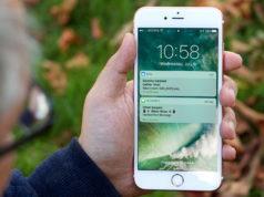 pantalla de bloqueo de un iPhone