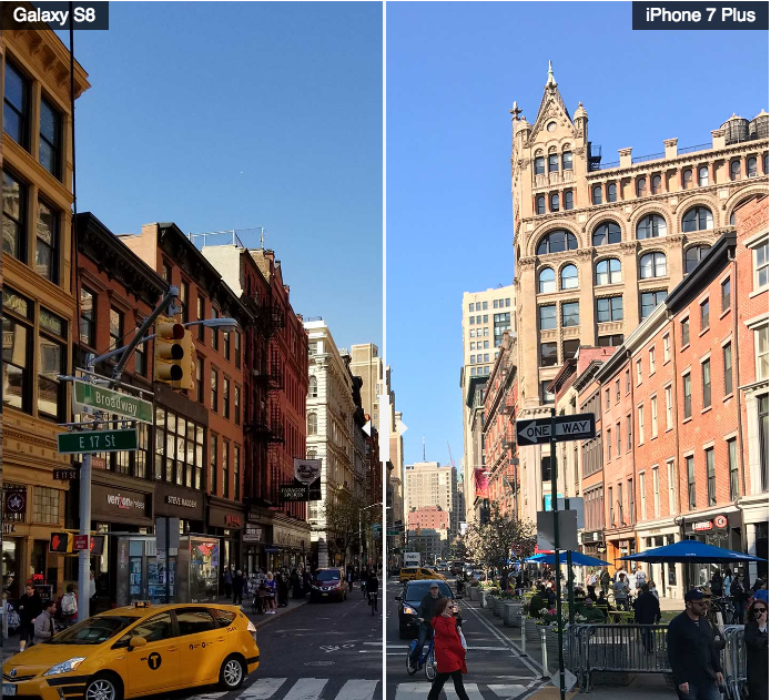 Comparativa Fotos HDR Samsung Galaxy S8+ iPhone 7