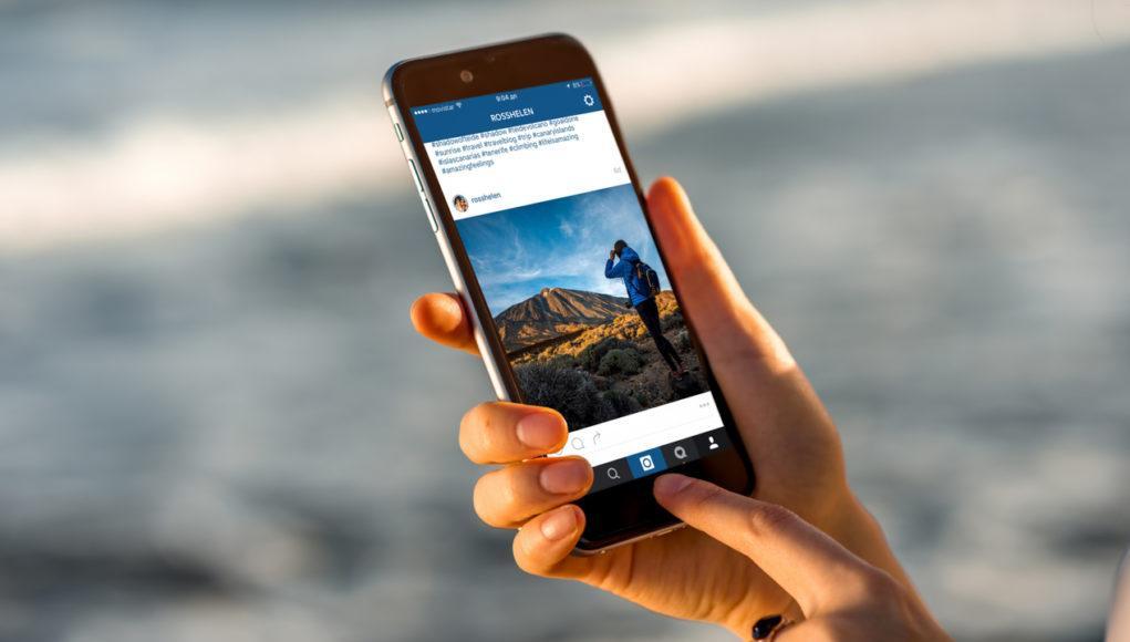 Instagram en un iPhone