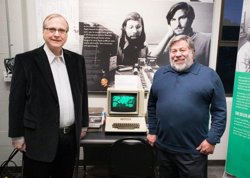 Paul Allen y Steve Wozniak