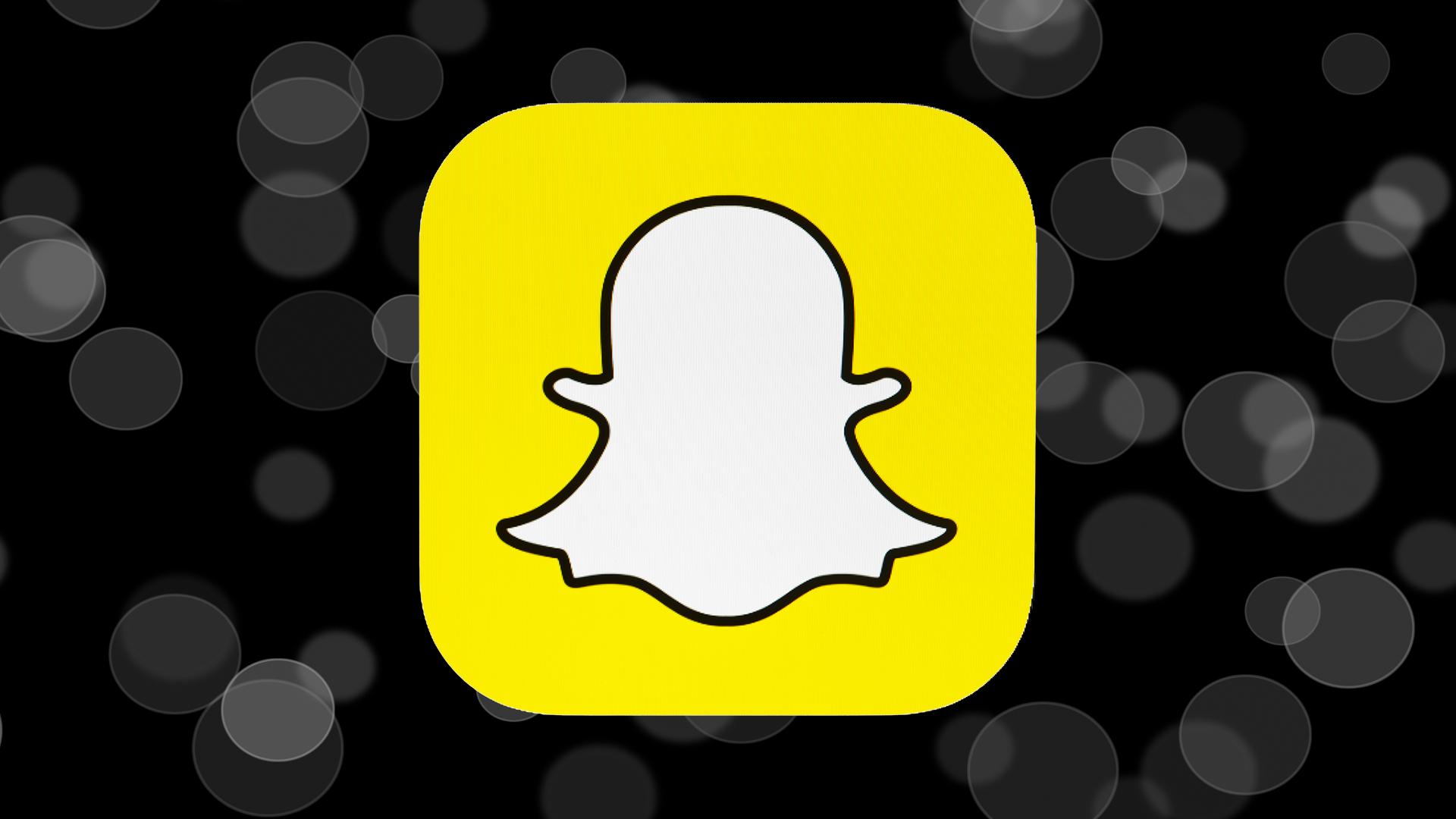 Snapchat con fondo negro