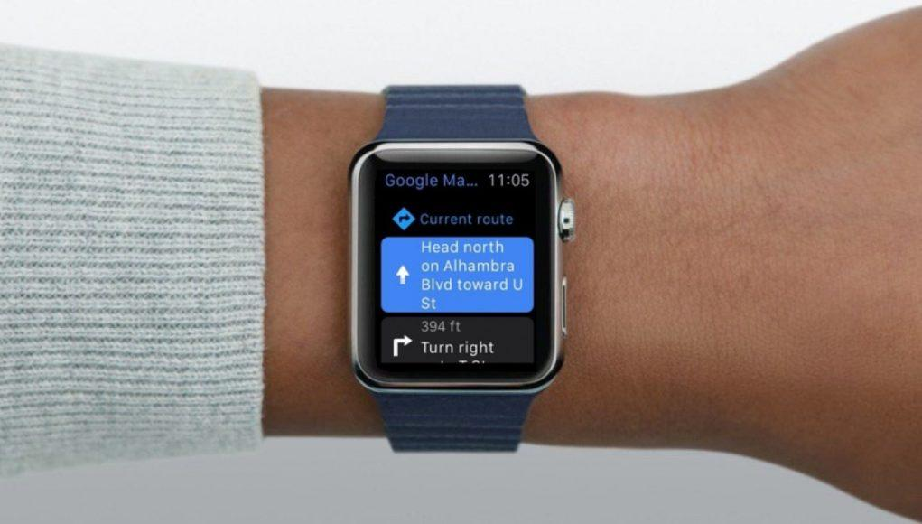 Google Maps en Apple Watch