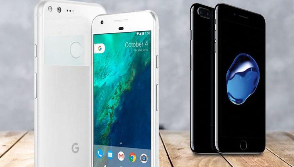 Google Pixel y iPhone 7