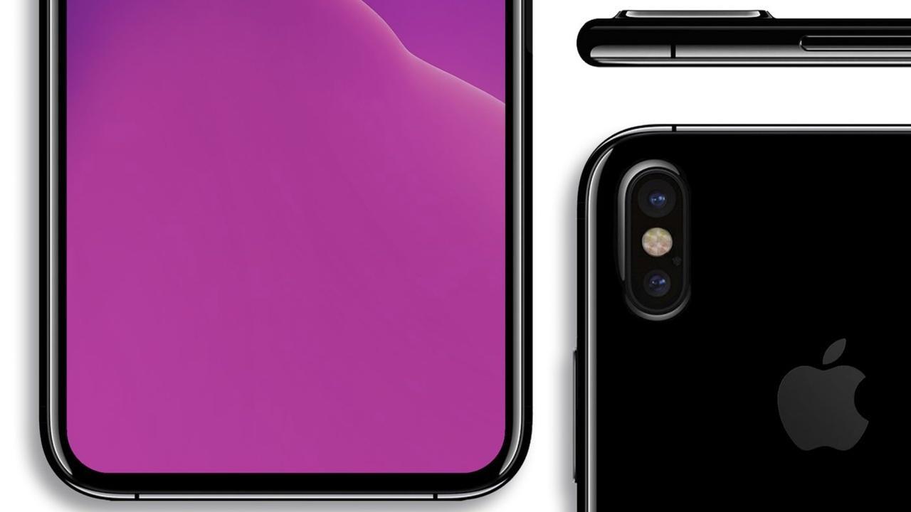 prototipo de iPhone 8 de cerca