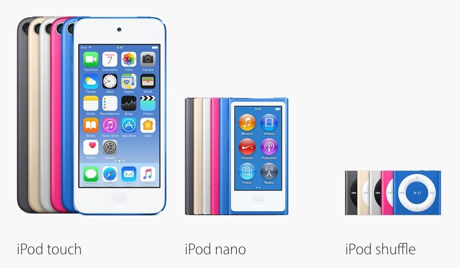 El iPod, un dispositivo compatible con MP3.