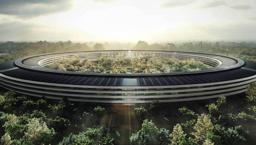 Edificio central del Apple Park con su característica forma de anillo.