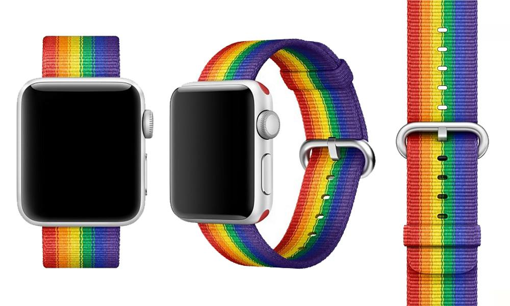 Apple Watch con correa en favor de organizaciones LGBT