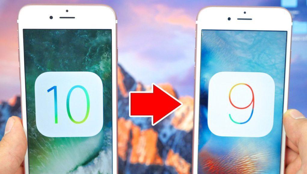 Bajar de iOS 10 a iOS 9