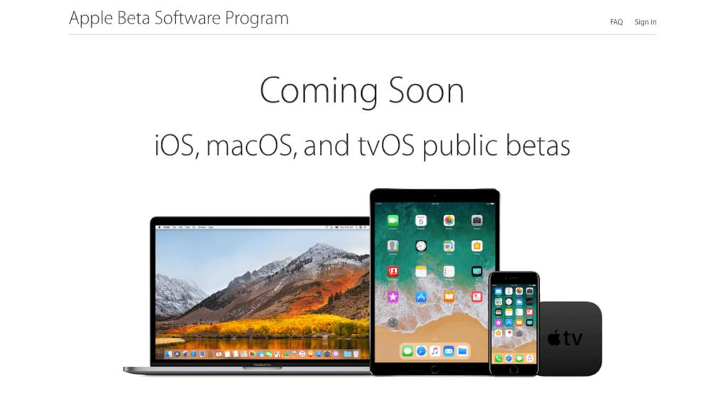 Programa de betas públicas Apple