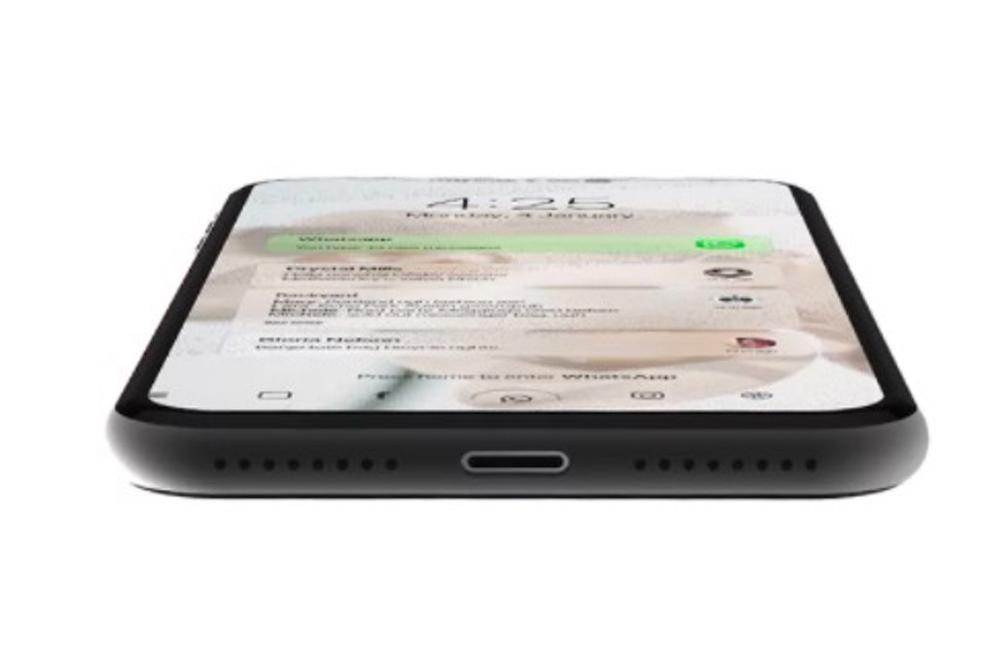 Concepto de iPhone con pantalla OLED