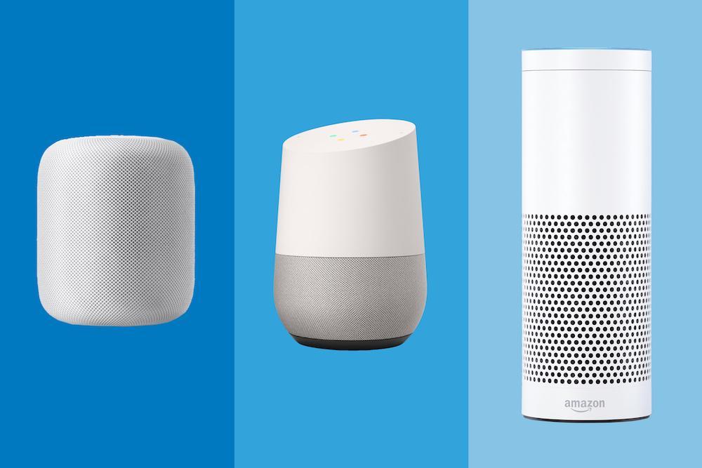 HomePod, Google Home y Amazon Echo