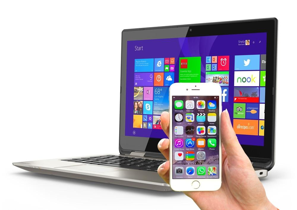 Sincronizar iPhone o iPad en Windows.