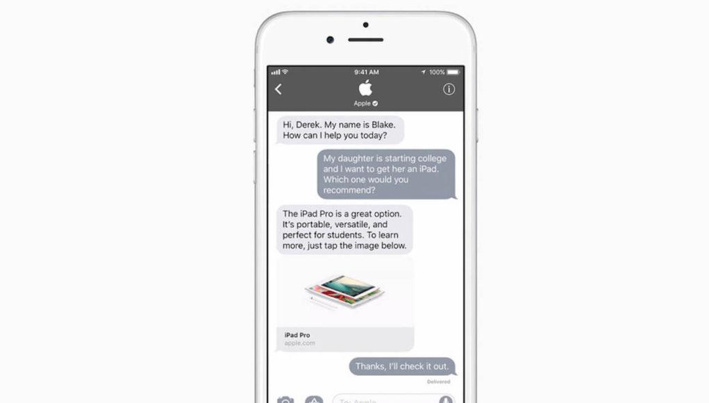 Apple Business Chat iOS 11