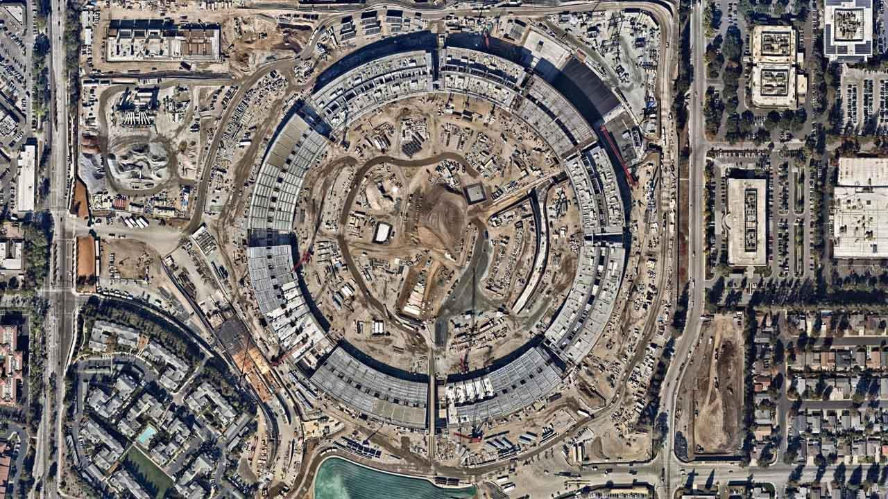 imagen aérea del Apple Park