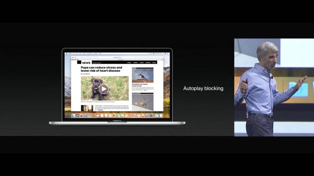 macOS High Sierra con Safari en WWDC