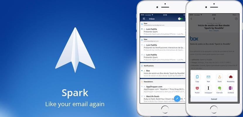 El 'smart inbox' de Spark gestionará tus correos entrantes de forma que solo veas lo que te interesa.
