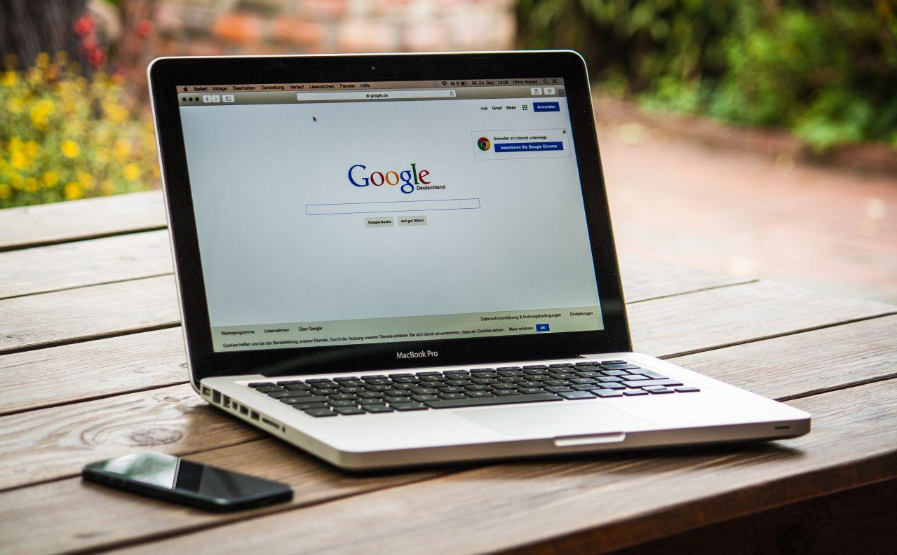 Google en un MacBook Pro