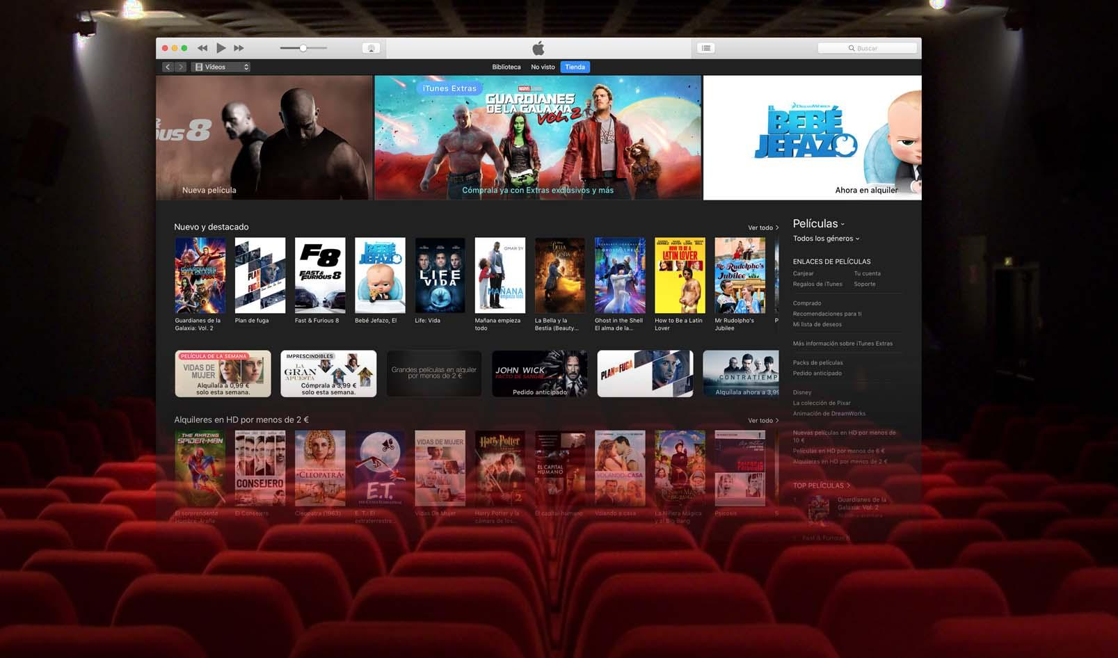 Las películas de cine podrían llegar a iTunes a las 2 semanas de su estreno