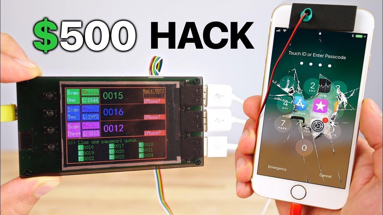 El código de desbloqueo del iPhone se puede burlar con esta maquina