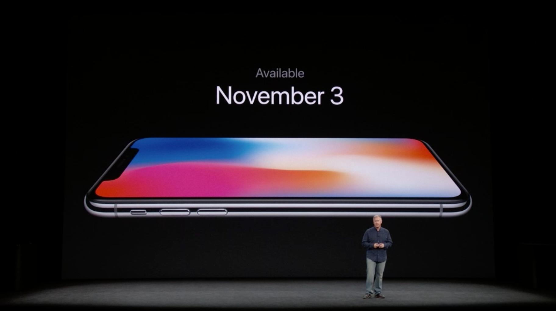 Noviembre 3 iPhone X