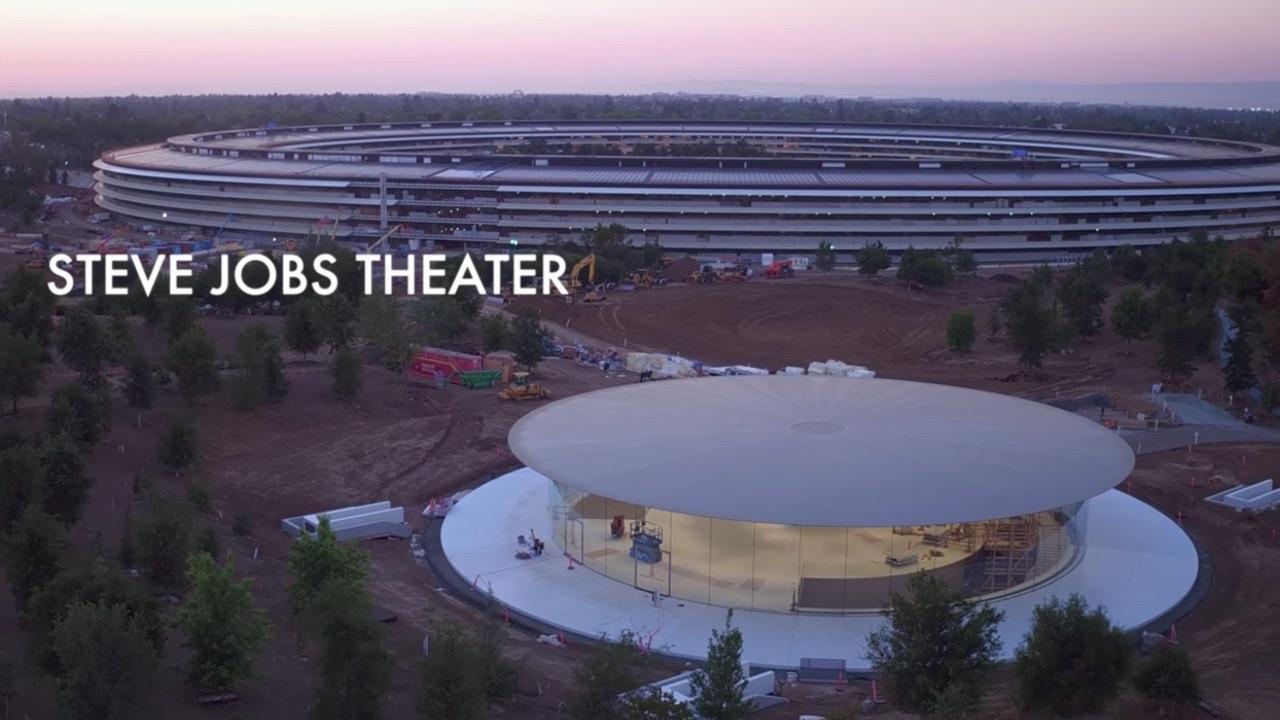 Steve Jobs Teather desde el aire