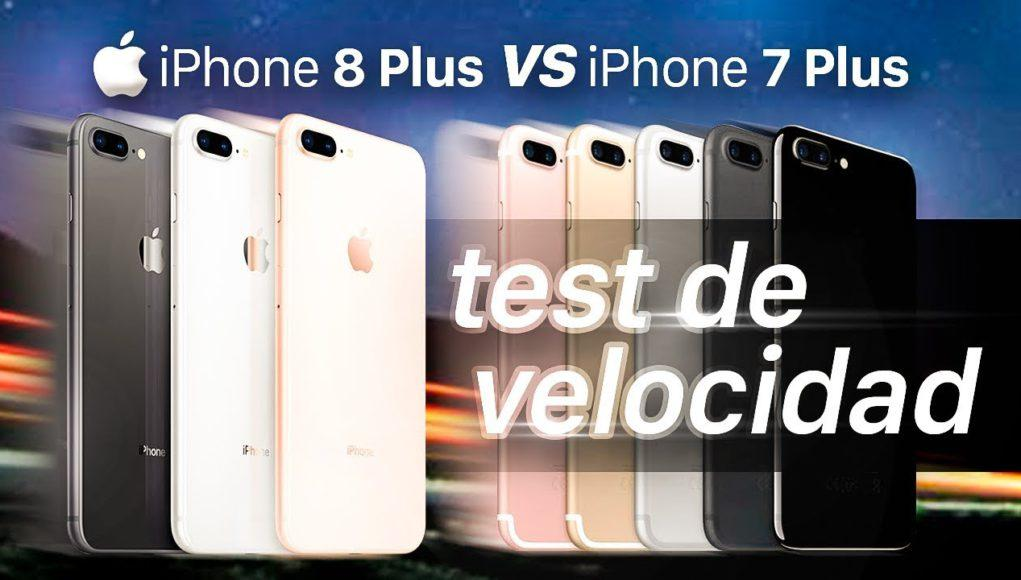iPhone 8 Plus vs iPhone 7 Plus test de velocidad