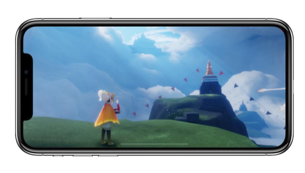 iPhone X juego pantalla completa