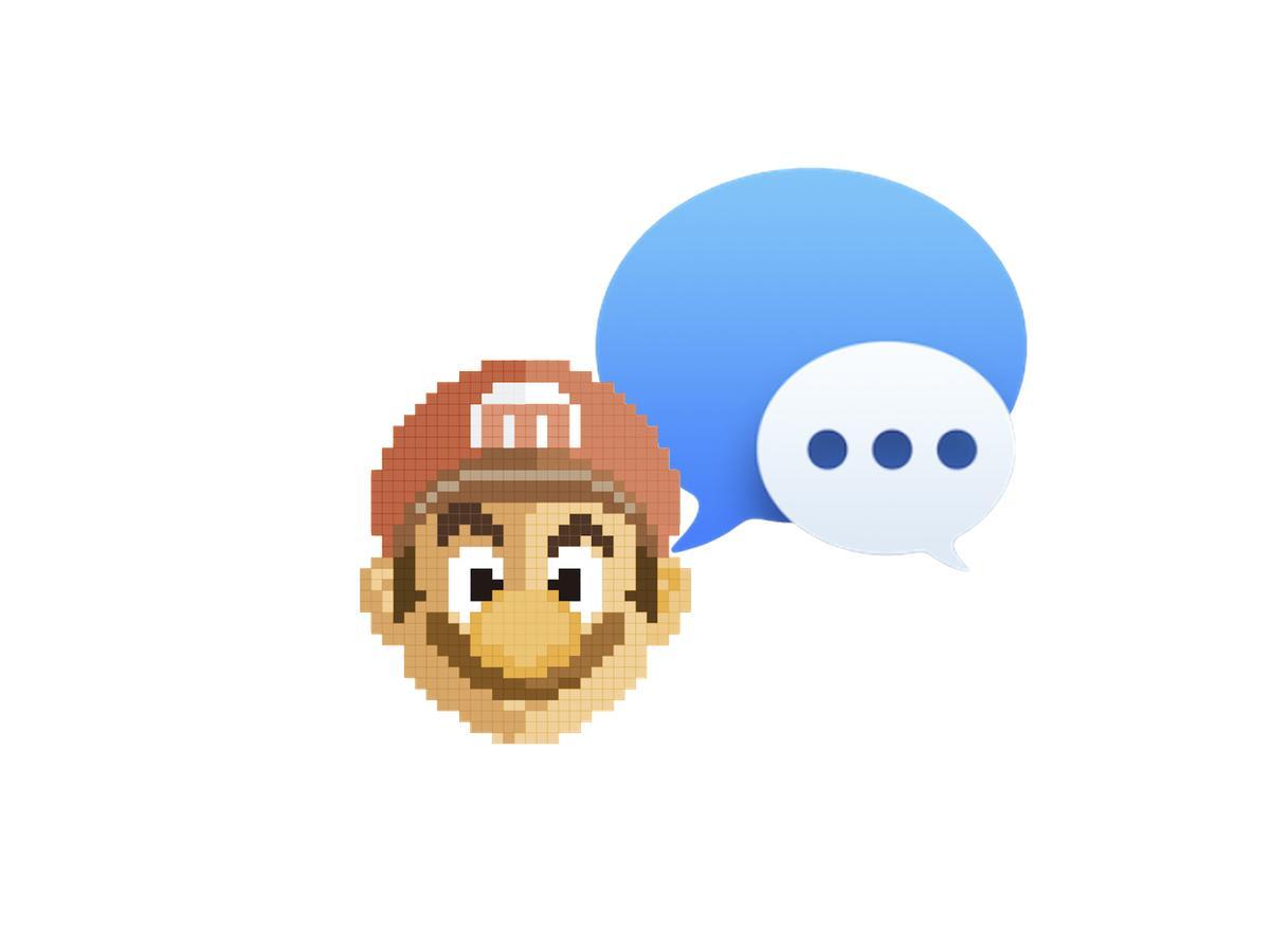 Mario iMessages Pegatinas Sticker iOS Ricky