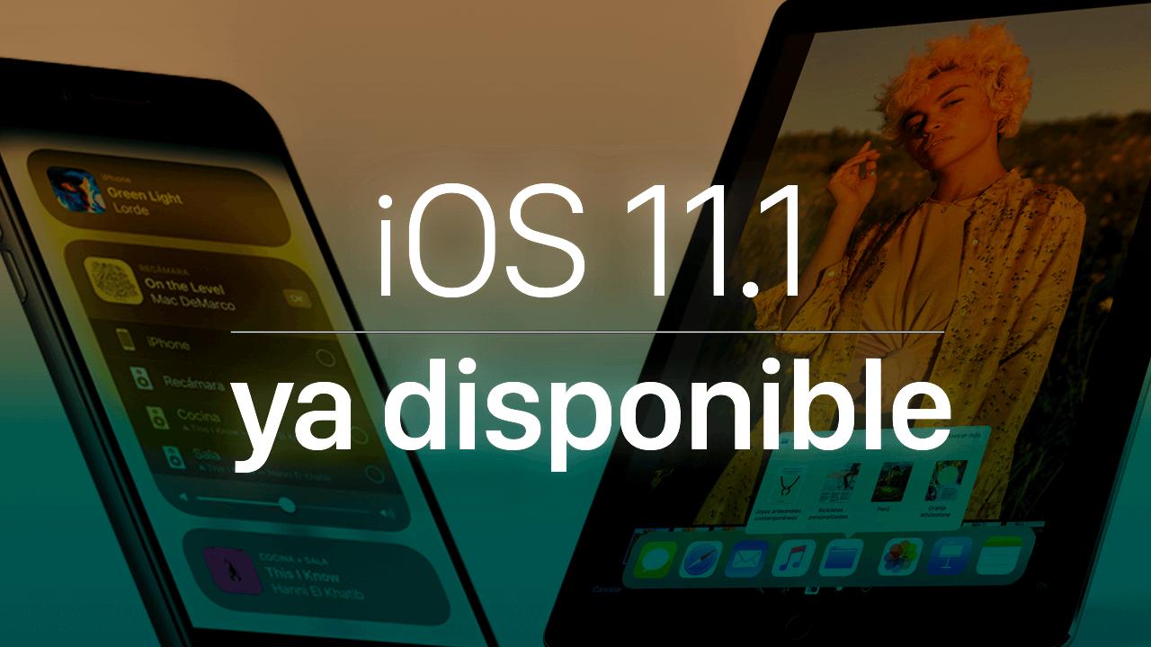 iOS 11.1 disponible