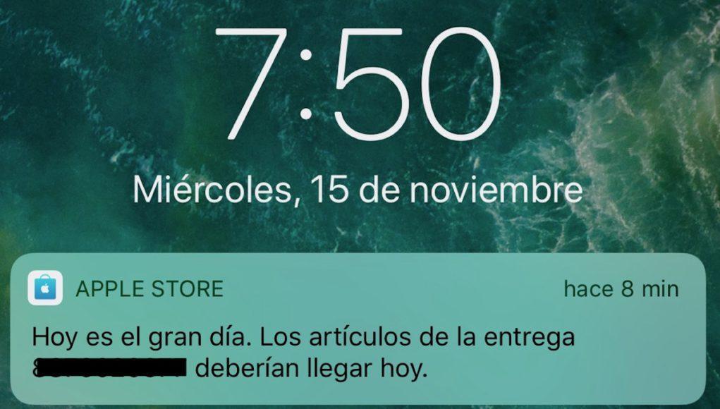 Apple notificación envío
