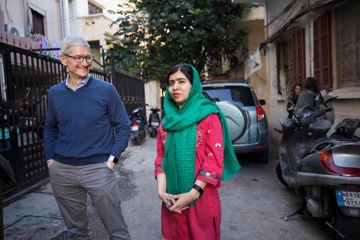 Malala Tim Cook Apple