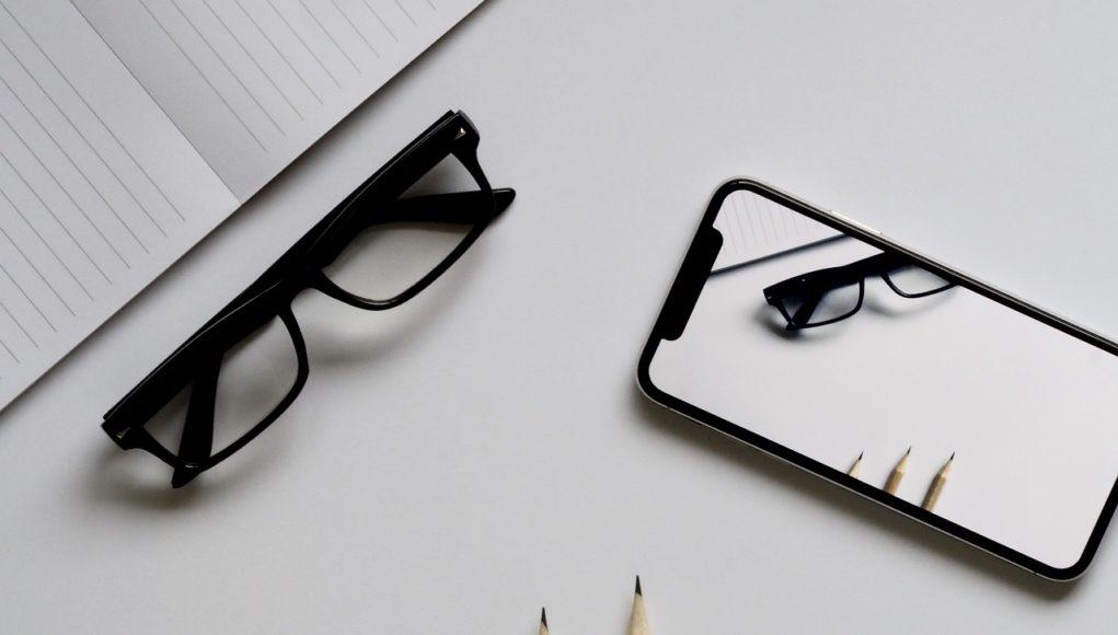 iPhone X gafas lápiz