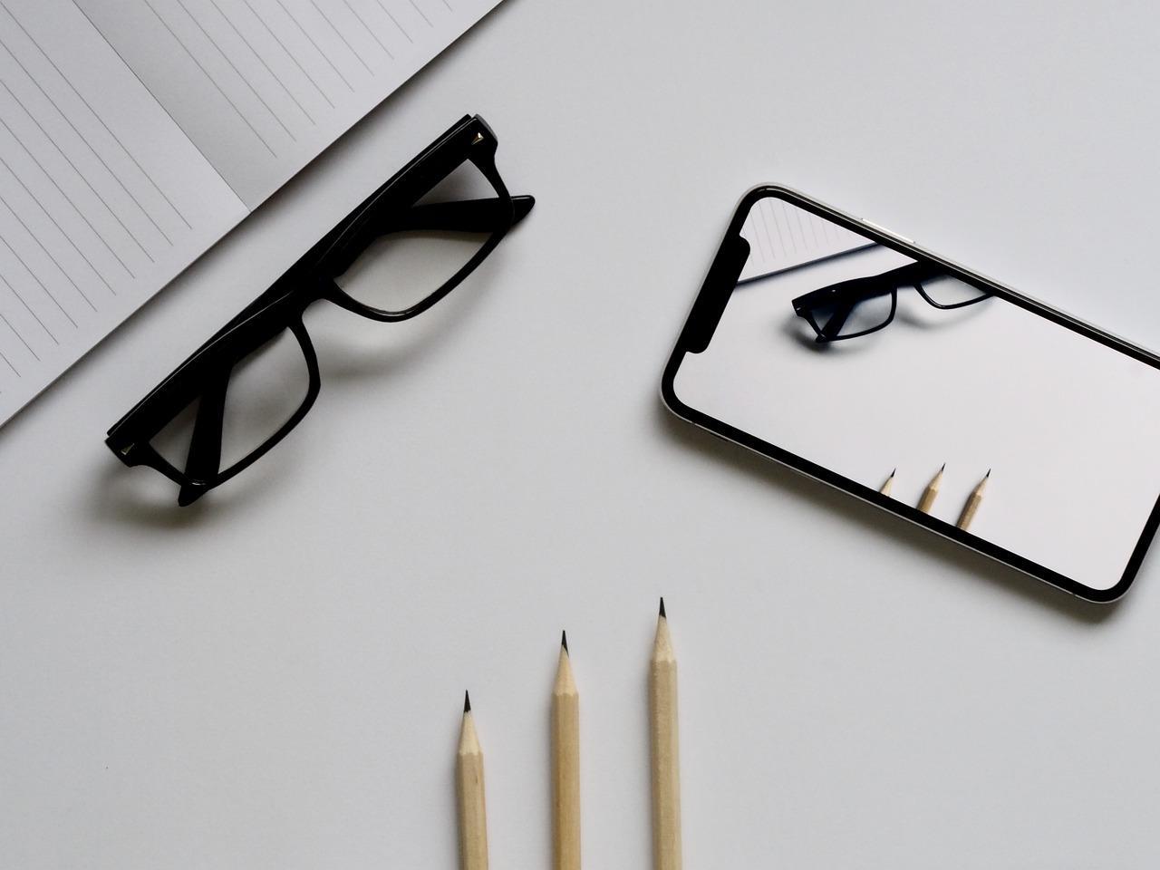iPhone X gafas lápiz