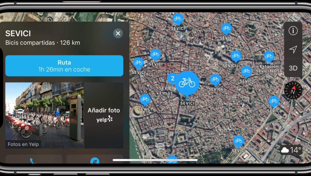 Apple Maps Bicicletas