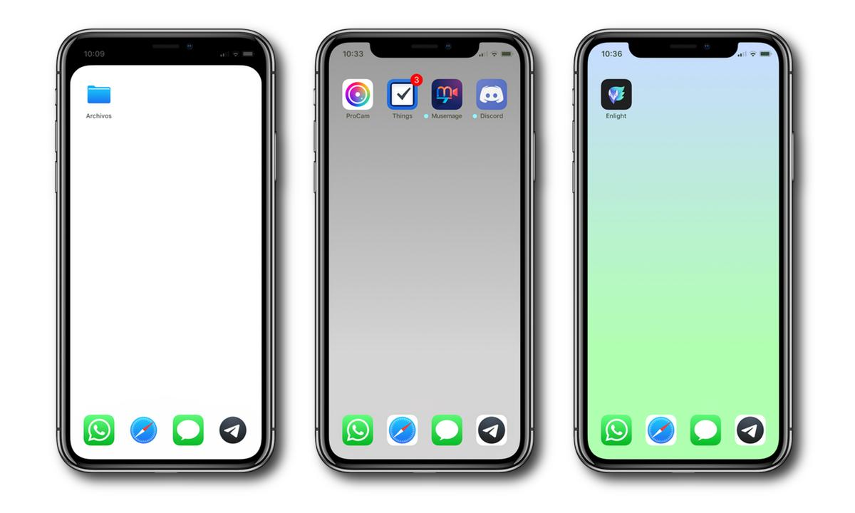 Oculta El Dock O El Notch Del Iphone Con Estos Wallpapers