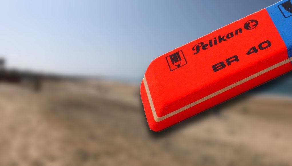 Borrar objetos goma iPhone