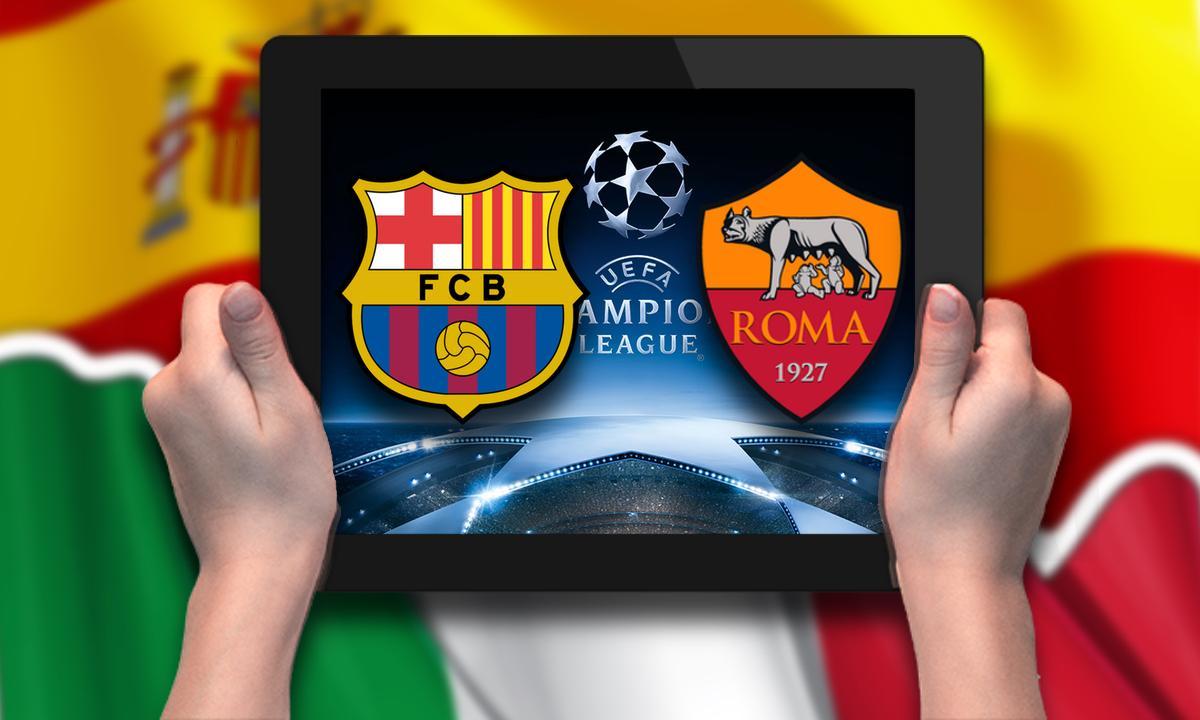 iPad Champions Barcelona Roma