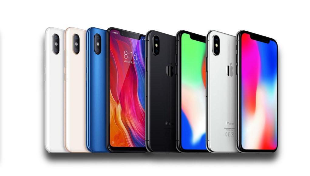 iPhone X Xiaomi 8