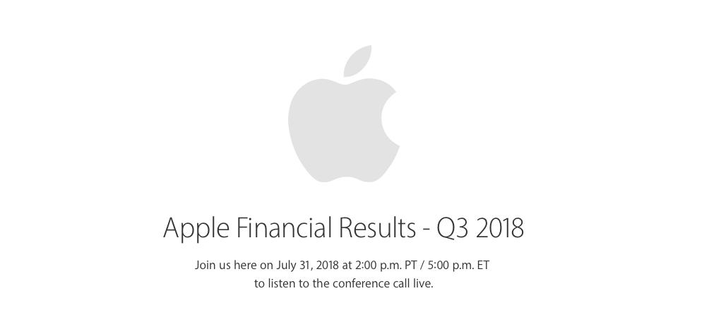Q3 2018 Apple