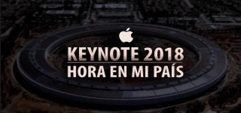 ¿A qué hora es la Keynote 2018 en mi país?