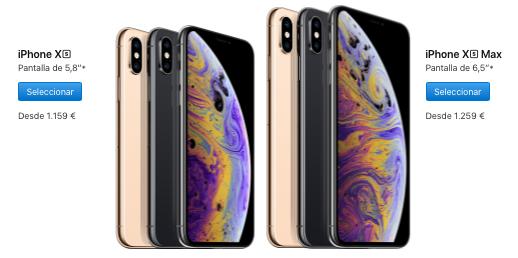 iPhone Xs Max tamaños precios